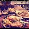 สะเต๊กหมูพริกไทยดำ+สปาเกตตี้แฮมชีส