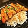 ข้าวปลาซาเมะย่างเทอริยากิ