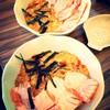 Tamago Sukimi & Salmon Grilled