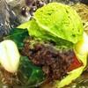 ไอศครีมชาเขียว ถั่วแดง เยลลี่ โมจิ