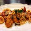Spaghetti, seafood Arrabiata sauce