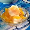 ไอศกรีมกะทิสดไข่แข็ง+สับปะรด