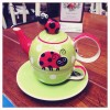 Cute Ladybug tea cup