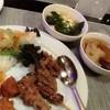 ซุปเต้าหู้ น่องไก่ตุ๋นยาจีน หมี่+หมูตะไคร้ ปอเปี๊ยะ ไก่เทอริยากิ