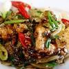 เนื้อปลาผัดพริกไทยดำ