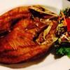 ปลากะพงราดทอดซอสน้ำปลา
