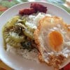 ข้าวแกงเขียวหวานฟักไก่ + หมูทอด + ไข่ดาว