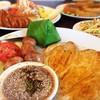 สเต็กไก่แซ่บ + หอมทอด + สเตกปลากระพง :)