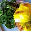 Salmon Pattie Egg Benedict
