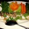 ผักนึ่งปลาเนื้ออ่อน จิ้มแจ่วแสนอร่อย