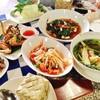 ตำทะเล ผัดผักกูด ตับหวาน ปีกไก่ทอด ต้มแซบหมู ข้าวเหนียว2ห่อ 310 บ.