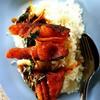 ข้าวราดผัดพริกแกงปลาช่อน