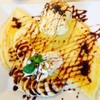 Crep Cafe With Passion Fruit Ice Cream