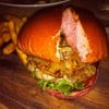Pink Tender pork burger 220 บาท