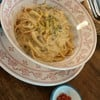 zoom... whole-wheat spaghetti cabonara