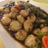 หอยเชลล์ผัดพริกไทยดำ