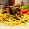 สปาเก็ตตี้ไก่ซอสพริกไทยดำ