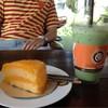 เค้กส้มกับชาเขียวนมสด