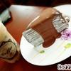 เครปเค้กช๊อกโกแล๊ต + ลาเต้เย็น