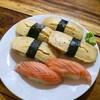 Tamago Sushi + Salmon Sushi