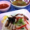 ข้าวหมูแดง ก่อนราดน้ำ..^^@บะหมี่-ลอยฟ้า