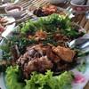 ปลาทับทิมสมุนไพรนะดูออกมะ. เหลือแต่ซาก