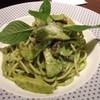 Spaghetti mushroom pesto cream sauce (195.-)