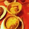 ขนมปังไว้กินกับซุปและ escargots