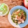 บะหมี่ต้มยำรวม กินคู่ชาเขียวมะนาว