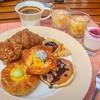 ตัวอย่างบุฟเฟ่ต์อาหารเช้าในส่วนของอาหารหวาน
