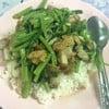 ผัดผักบุ้งหมูกรอบ