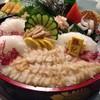 หอยงวงช้าง กับ ปลาหมึก ซาชิมิ