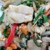 ข้าวผัดกระเพราปลาสด