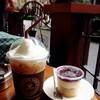 Cappuccino + Blueberry Cheese Tart