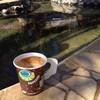 จิบกาแฟแช่เท้าในน้ำพุร้อน