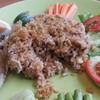 ข้าวผัดน้ำพริกลงเรือปลาทูไข่เค็ม