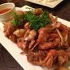 กุ้งแม่น้ำผัดกระเทียมพริกไทย
