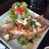 ปลาทับทิมนึ่งมะนาว