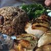 ข้าวไก่ย่างกะเพรา+ซุป (98.-)