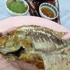 ปลาทับทิมเผา 250.-