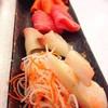 Sashimi รวม 5 อย่าง มี Engawa Ponzu ด้วย