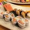 Tuma Spicy Roll, Salmon Sashimi, Unagi, ปลาหมึก
