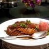 Roasted duck with honey