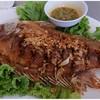 ปลาทับเทียมทอดกระเทียม (150B)