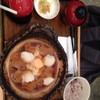 ชุดหมูทอดในน้ำหอมใหญ่โปะด้วยไชเท้า
