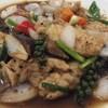 ปลาดอลลี่ผัดพริกไทยดำ