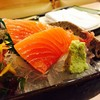 Salmon Sashimi สามชิ้น สุดฟิน