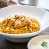 Chicken biryani with cumcumber raita