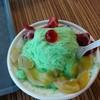 เมลอนเกล็ดหิมะใส่พีช&สตรอเบอรี่