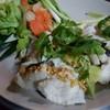 ลวกจิ้มปลาคัง สดๆอร่อยมาก มาพร้อมน้ำจอ้มซีฟู๊ด